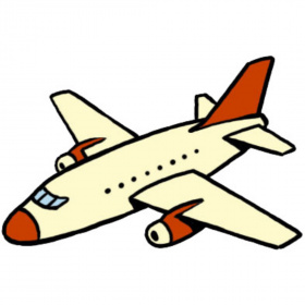 A cartoon drawing of a plane on a white background.
